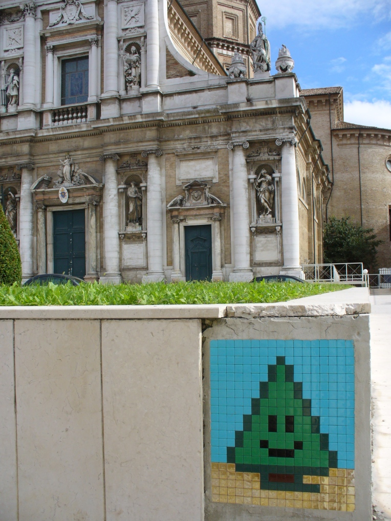 Invader, Happy as a Tree in Ravenna, via di Roma