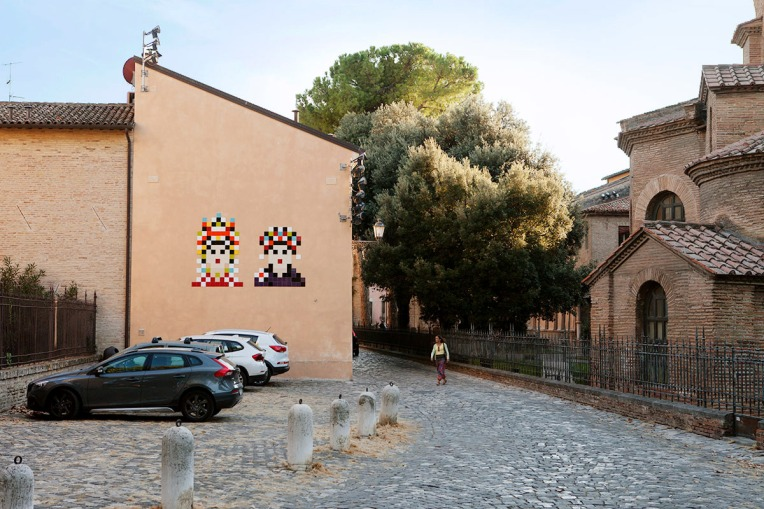 Invader, Giustiniano e Teodora, 2015, courtesy Invader