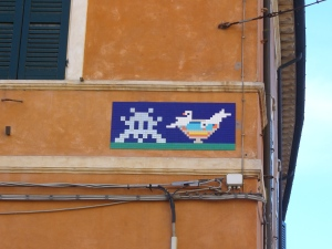 Invader, The Strange Encounter, Ravenna, via Rasponi, 2015
